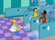 shower, drawing, and grunge image Die Simpsons, Simpsons Meme, Pixar, Cartoon Memes, Cartoons, Santa's Little Helper, Shower Valve, Futurama, Reaction Pictures