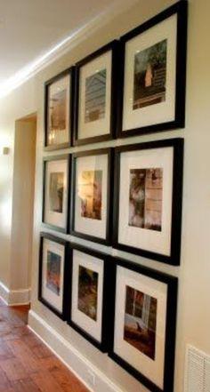 Photo wall - hallway