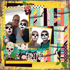Faceswap Fun - digital scrapbook layout    Credits:  Sugar Skull bundle by Neia Scraps  Template by Clever Monkey Graphics  at @Gingerscraps    http://store.gingerscraps.net/sugar-skull-Bundle-FWP-By-Neia-Scraps.html