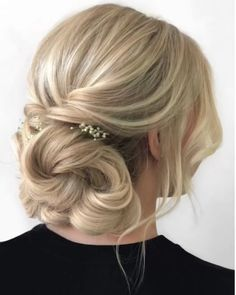 Bun Hairstyles With Edges is part of Bun Edges Bad Gal In Curly Hair Styles Hair - Quick Hair Tutorial Prom Hairstyles For Short Hair, Quick Hairstyles, Gorgeous Hairstyles, Updos For Fine Hair, Simple Bride Hairstyles, Upstyles For Short Hair, Dinner Hairstyles, Wedding Guest Hairstyles Long, Casual Hair Updos