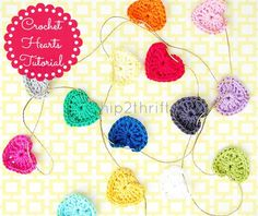 how to crochet a heart garland