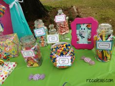Sweets table! Sweet Shop First Birthday Party #birthday #firstbirthday #sweetshop