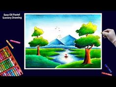 Hello Friends Welcome to Our Channel Friends Our Channel makes videos on different type of Art Media In this Video we show you Oil Pastel Color Media to make. Scenery Drawing Pencil, Beautiful Scenery Drawing, Scenery Drawing For Kids, Easy Drawings For Kids, Pencil Art Drawings, Oil Pastel Colours, Oil Pastel Art, Oil Pastel Drawings, Pencil Illustration