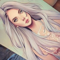 Image in avatar collection by Hanna on We Heart It Art And Illustration, Kelsey Beckett, Art Sketches, Art Drawings, Art Watercolor, Digital Art Girl, Sketch Painting, Grafik Design, Cute Art