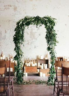 greenery wedding arch ideas for 2017 trends