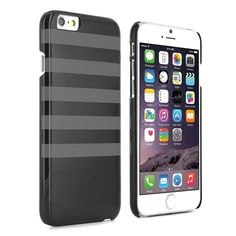This iPhone 6 cover features an elegant Black / Grey Breton Style print that would even make Beetlejuice jealous. Slimline and lightweight, you can go about your business knowing that your iPhone 6 cover is doing its job without adding any unnecessary bulk or weight.  It's scratch resistant due to its tough polycarbonate construction, and has strategically placed cut-outs that allow you to have direct access to all of the functions of your iPhone, without ever having to remove the case.  ...