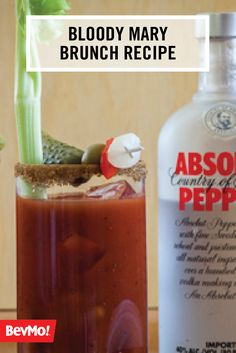 When it comes to classic brunch cocktails, you can't beat a recipe for a bloody mary. Check out this delicious combination of pepper vodka, bloody mary mix, and your favorite garnishes—like celery and pickles.