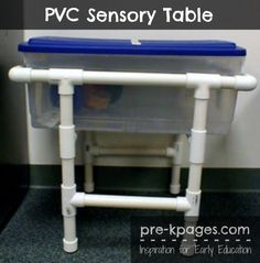 Great sensory ideas- some I've thought of and others I haven't. I also love the pvc sensory table. Clever and cheaper than the real thing!