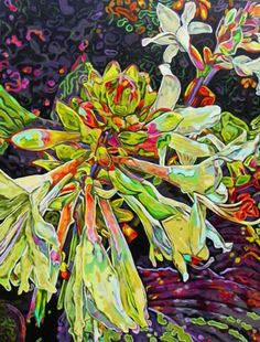 Bold Botanical Acrylic Paintings: Blooms - Paintings by Carol Sims