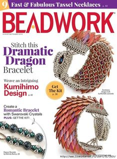 Fall into style with the August/September digital issue of Beadwork magazine includes 12 unique bead-weaving patterns and 9 Fast & Fabulous projects. Beading Techniques, Beading Tutorials, Beading Patterns, Magazine Beads, Beaded Jewelry, Beaded Bracelets, Charm Bracelets, Silver Bracelets, Wire Jewelry