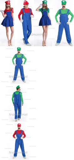Halloween Costumes Couples: Super Mario And Luigi Workmen Couples Adult Mens Womens Cosplay Fancy Costumes -> BUY IT NOW ONLY: $14.99 on eBay!