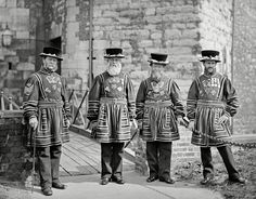 Yeoman Gaoler and Yeoman Warders at the Tower of London, 1873 Develop Pictures, Images Of England, Cities, Tower Of London, 16th Century, Vintage Images, Poster Size Prints, Canvas Prints, Photography