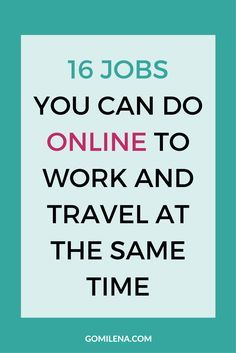 Being a freelancer, online entrepreneur or digital nomad is not only interesting because of the flexibility it gives you, but also because of the variety of jobs you can do. Wondering what jobs you can do online to work and travel at the same time and enj Work From Home Business, Work From Home Jobs, Make Money From Home, Business Tips, Online Business, How To Make Money, Earn Money Online, Make Money Blogging, Online Income