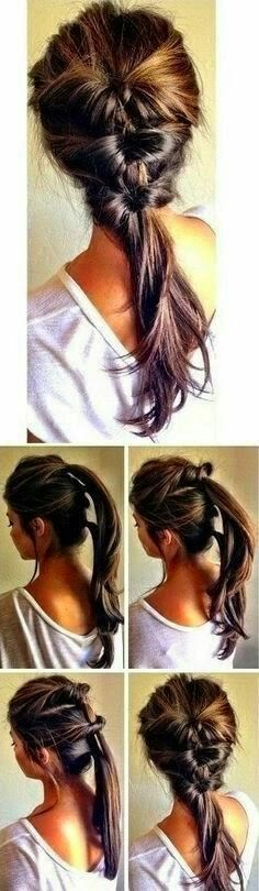 Love this layered braid look