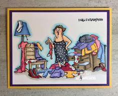 "Art Impressions Stamps ""Floordrobe Tryfold"" by CheriB Designs"
