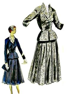 1950s Couture Suit Pattern VOGUE Special by ShellMakeYouFlip