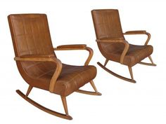 Paire de fauteuils à bascule 1940