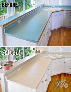 how to paint your countertops to look like granite/marble with