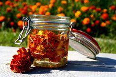 Mason Jars, Health Fitness, Hair Beauty, Herbs, Cooking, Tableware, Nature, Marigold, Cottage