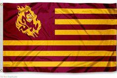 Arizona State University Striped Flag