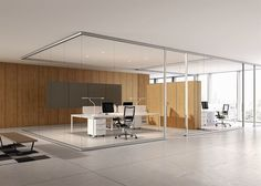 Removable partition / aluminum / glazed / for offices ARIA BABINI OFFICE