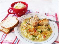 Pilaf cu ciocănele de pui Grains, Rice, Food, Essen, Meals, Seeds, Yemek, Laughter, Jim Rice