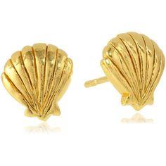 gorjana Seashell Stud Earrings ($24) ❤ liked on Polyvore featuring jewelry, earrings, accessories, stud earrings, gorjana, stud earring set, sea shell jewelry and gorjana jewelry
