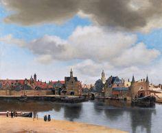 Johannes Vermeer    Widok Delft, detal, ok. 1660-1661, Mauritshuis, Haga