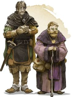 City Watch Sergeant Saeth Cromley and WOMP Special Investigator Barnibus Blastwind Character Concept, Character Art, Concept Art, Character Design, Character Ideas, Dnd Dragons, Dungeons And Dragons, D D Characters, Fantasy Characters