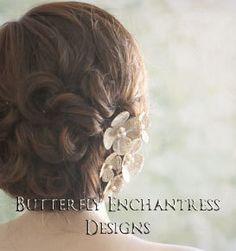 Burlap Wedding, Bridal Hair Accessories, Wedding Hair Flowers - Natural Burlap and Lace Hydrangea Mix Set