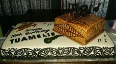 Maori and Tongan inspired cake. Tongan Food, Island Cake, Maori Art, Big Cakes, Cake Creations, Birthday Cake, Birthday Ideas, Cake Art, Quick Meals