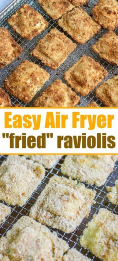 "Air fryer ravioli is easier to make than you think! Using fresh or frozen cheese or meat ravioli you can get that crispy outside with NO oil like this. fryer recipes How to Make Air Fryer ""Fried"" Ravioli! Air Fryer Recipes Vegetarian, Air Fryer Recipes Breakfast, Air Fryer Oven Recipes, Air Fryer Dinner Recipes, Cooking Recipes, Healthy Recipes, Easy Recipes, Snacks Recipes, Top Recipes"