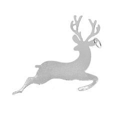 Rg 22 Lucky Charm Deer col. Nickel  -  Rg 22 Γούρι Ελάφι χρ. Νίκελ