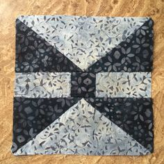 First Block of the Inaugural Quilt Adventure - FWQ Block 5 - Bat Wing
