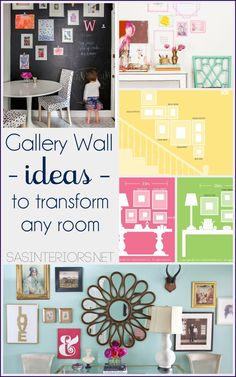 Ideas + Inspiration for creating a Gallery Wall in any room of the home.