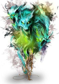 Brilliant Digital Art by Pencil Mogwai SO MY STYLE!!!!!!!!!!!!!!!!!!!!!!! Love the colors too!!!!