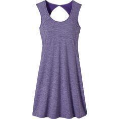 PrAna Calico Dress ($85) ❤ liked on Polyvore featuring dresses, purple, slim fit dress, purple jersey, scoop neck dress, prana dress and prana