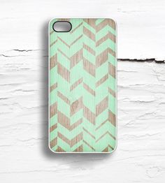 Chevron Field Faux Wood iPhone Case | Disaster prevention rarely looks so fly. This iPhone 5/5S case... | Mobile Phone Cases