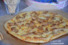pizza kebab crème fraiche 4 Pizza Kebab, Pizza Recipes, Healthy Recipes, Quiche Muffins, Fajitas, Tapas, Sandwiches, Good Food, Pizza