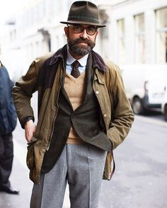 """""""The always dapper, fly-fishing Mr. Guittini after his afternoon espresso break at Marchesi on Via Montenapoleone, Milan Shot for @facesbythesartorialist"""""""