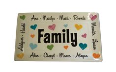 Hand Painted Family Platter by cliquecreative on Etsy, $50.00