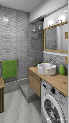 The bathroom is optimized and modernized: bathroom style by mj interiors, modern - Ceramic Tile Bathrooms, Zen Bathroom, Bathroom Plans, Laundry In Bathroom, Bathroom Design Small, Bathroom Layout, Bathroom Interior Design, Bathroom Ideas, Bathroom Designs