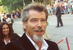 Pierce Brosnan at the 2005 Toronto Film Festival - Van Dyke beard - Wikipedia Van Dyke Beard, Beards And Mustaches, Moustaches, Pierce Brosnan, Mens Facial, Facial Hair, Beard Styles For Men, Hair And Beard Styles, Goatee Styles