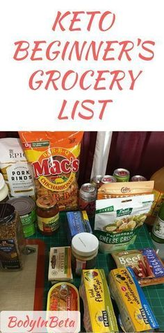 Items that I would recommend for someone starting out on the ketogenic diet. Keto beginner's grocer list. #atkinsdietgrocerylist #ketogenicdietforbeginners