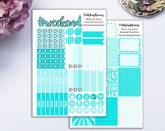 Breakfast @ Tiffany's Mini Kit ECLP vertical by prettyeasyplanning. Explore more products on http://prettyeasyplanning.etsy.com