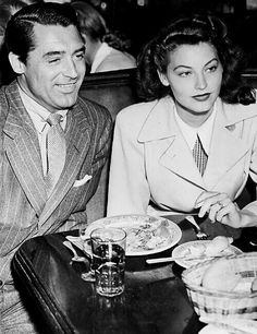 Cary Grant & Ava Gardner out on the town