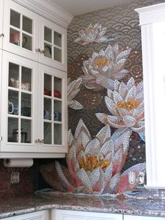 Water Lily Mosaic (left side) -Kath Rutherford