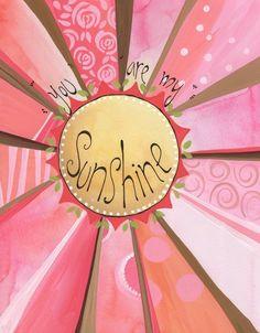 You are my Sunshine Arise And Shine, Sun Moon Stars, Good Morning Sunshine, Hippie Art, Hand Painting Art, You Are My Sunshine, Baby Prints, Beautiful Butterflies, Cute Illustration