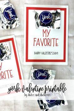 york valentine printable for valentine's day