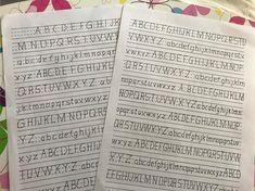 Martes de práctica básica .... preparando otro alfabeto  #letteringlove #letrasbonitas #lettering #caligrafía #cursodelettering